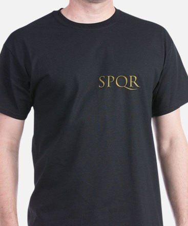 Gold Latin SPQR T-Shirt