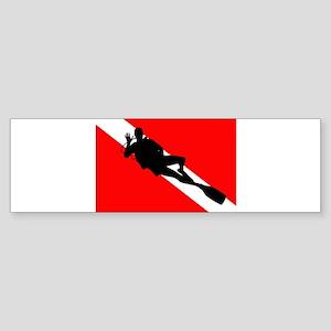 Scuba Flag Diver Sticker (Bumper)