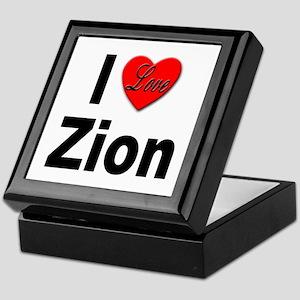 I Love Zion Keepsake Box