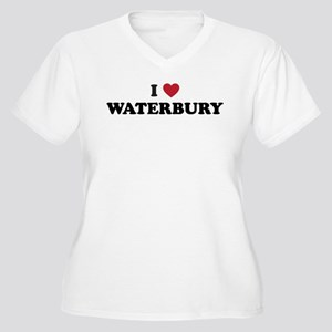 I Love Waterbury Connecticut Women's Plus Size V-N