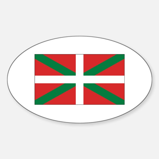Basque Flag Sticker (Oval)