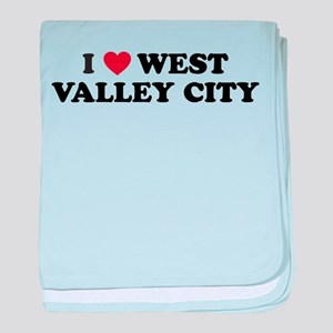 I Love West Valley City Utah baby blanket