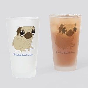Bacon Pug Drinking Glass