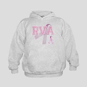 RVA initials, Pink Ribbon, Kids Hoodie