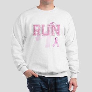RUN initials, Pink Ribbon, Sweatshirt