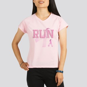 RUN initials, Pink Ribbon, Performance Dry T-Shirt