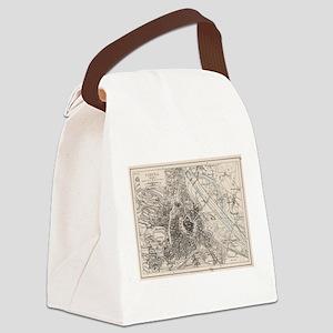 Vintage Map of Vienna Austria (19 Canvas Lunch Bag