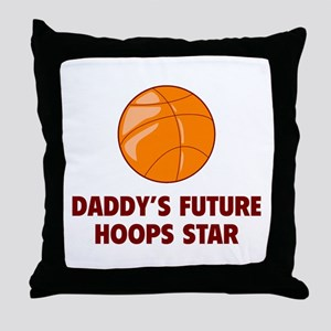 Daddy's Future Hoops Star Throw Pillow