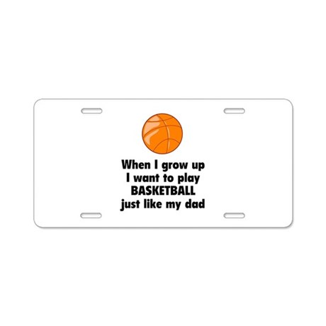 Play Basketball Aluminum License Plate