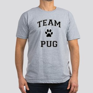 Team Pug Men's Fitted T-Shirt (dark)