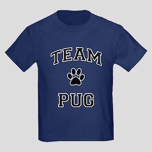 Team Pug Kids Dark T-Shirt