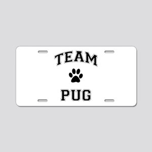 Team Pug Aluminum License Plate