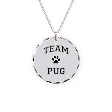 Team Pug Necklace Circle Charm