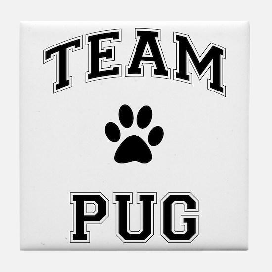 Team Pug Tile Coaster