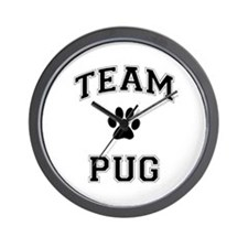 Team Pug Wall Clock
