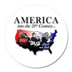 21st Century America Round Car Magnet