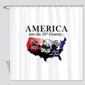 21st Century America Shower Curtain