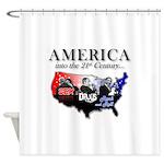 21st Century America Shower Curtain