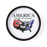 21st Century America Wall Clock