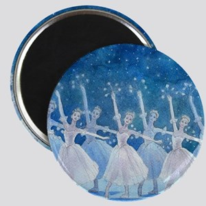 Dance of the Snowflakes Round Magnet