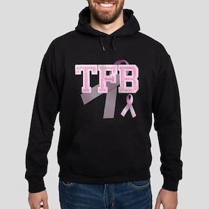 TFB initials, Pink Ribbon, Hoodie (dark)