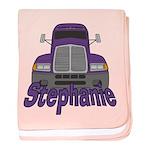 Trucker Stephanie baby blanket