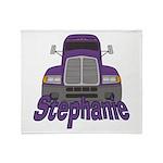 Trucker Stephanie Throw Blanket