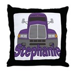 Trucker Stephanie Throw Pillow