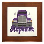 Trucker Stephanie Framed Tile