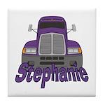 Trucker Stephanie Tile Coaster