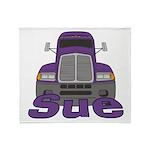 Trucker Sue Throw Blanket