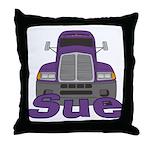 Trucker Sue Throw Pillow