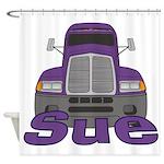 Trucker Sue Shower Curtain
