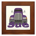 Trucker Sue Framed Tile