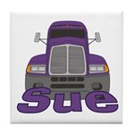 Trucker Sue Tile Coaster