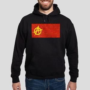 Anarchy Graffiti Red Brick Wall Sweatshirt