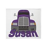 Trucker Susan Throw Blanket