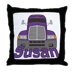 Trucker Susan Throw Pillow