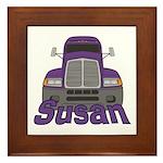 Trucker Susan Framed Tile