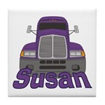 Trucker Susan Tile Coaster