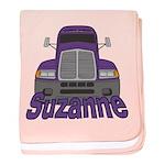 Trucker Suzanne baby blanket