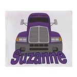 Trucker Suzanne Throw Blanket