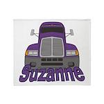 Trucker Suzanne Throw Blanket