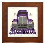 Trucker Suzanne Framed Tile