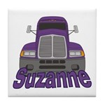 Trucker Suzanne Tile Coaster
