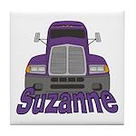 Trucker Suzanne Tile Coaster