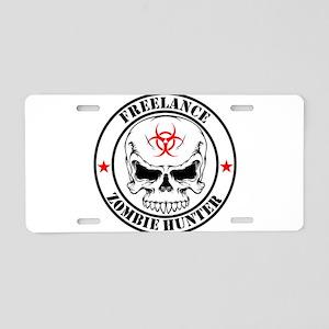 Freelance Zombie Hunter Aluminum License Plate