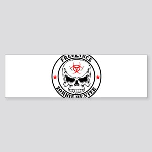 Freelance Zombie Hunter Bumper Sticker
