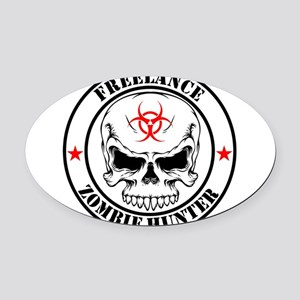 Freelance Zombie Hunter Oval Car Magnet