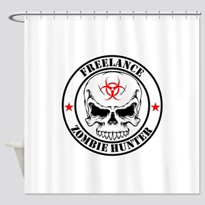 Freelance Zombie Hunter Shower Curtain